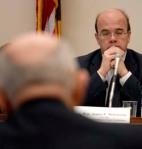 Rep. McGovern listens to Ecuador's Ambassador.