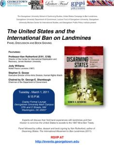 Georgetown Landmine Event Flyer