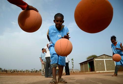 Mai Aini Basketball Practice